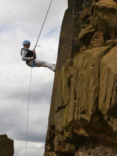 Bridget winning life Abseiling down high cliff!